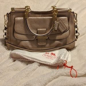 Coach Madison Pinnacle Pebbled Leather Carrie